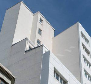 Revestimientos de fachadas medianeras