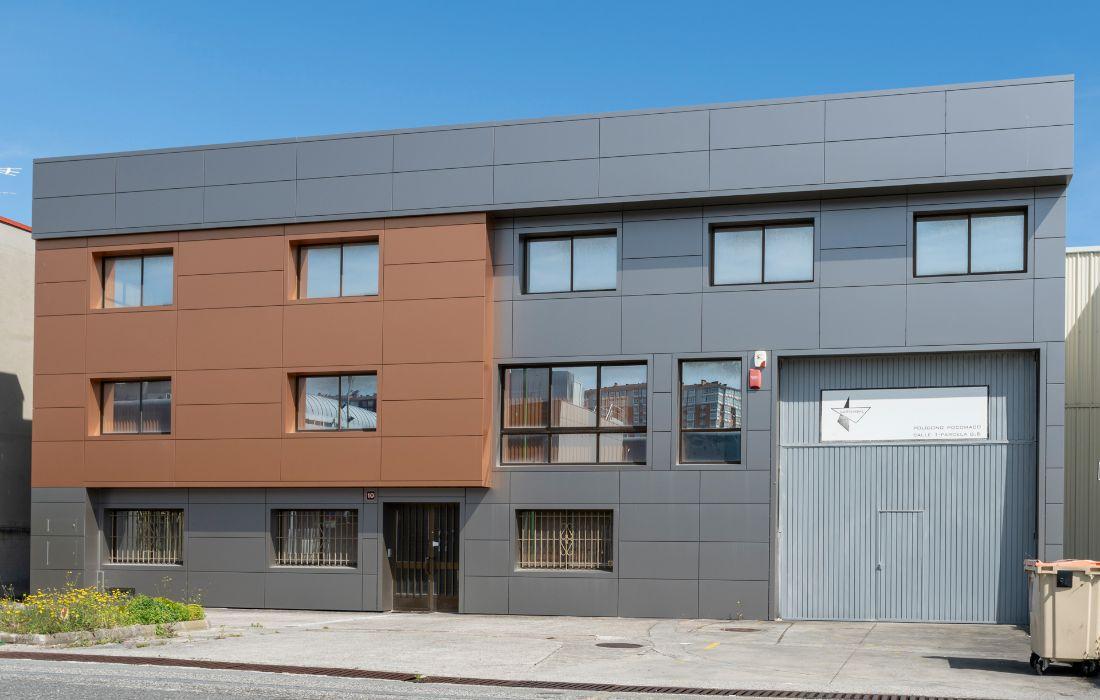 Nave industrial en el Polígono de Pocomaco (A Coruña)